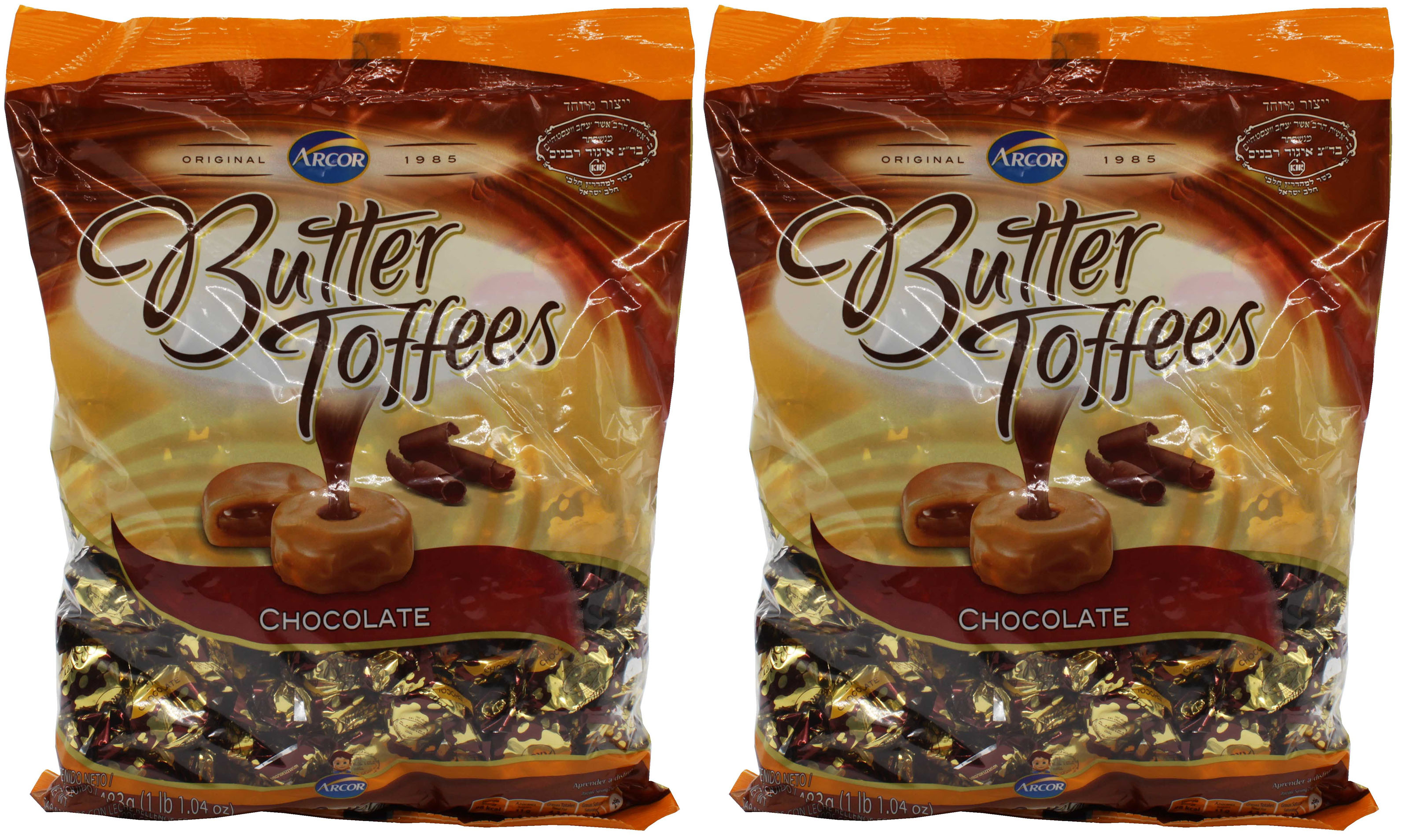 Arcor Butter Chocolate Kosher Toffee Dairy Large (Pack of 2) 1 lbs 1.04 oz ... by Arcor