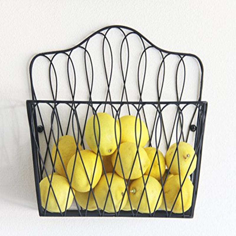 Wall Mount Storage Magazine Rack Fruit Basket