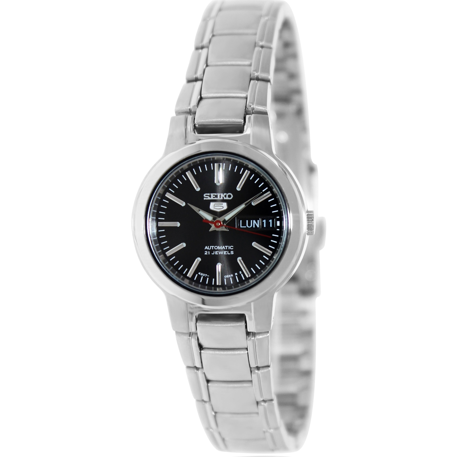 Seiko Women's 5 Automatic SYME43K Black Stainless-Steel A...