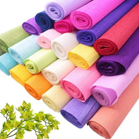 1Pcs DIY Crepe Paper Wedding Birthday Party Supplies Decoration Paper Streamer Roll ()