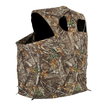 (Ameristep 54 x 45 Polyester Realtree Edge Camo Tent Chair Ground Hunting Blind)