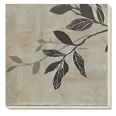 CounterArt Grey Leaves Absorbent Coasters, Set of 4