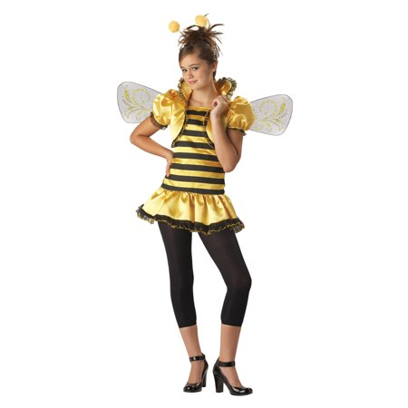 Honey Bee Tween Halloween Costume, One Size, M (10-12)](Tween Waters Halloween Party 2017)