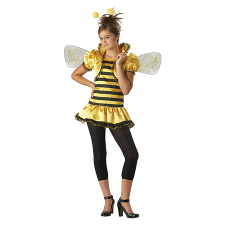 Honey Bee Tween Halloween Costume, One Size, M (10-12) - Cool Halloween Costume Ideas For Tweens