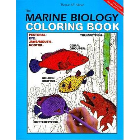 HarperCollins Coloring Books (Not Childrens): The Marine Biology Coloring Book, 2nd Edition (Paperback)