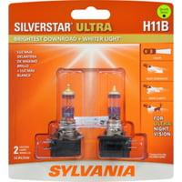 Sylvania H11B SilverStar Ultra Halogen Bulb, Pack of 2