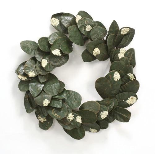 Distinctive Designs Artificial Laurel Leaf 24'' Wreath (Set of 6)