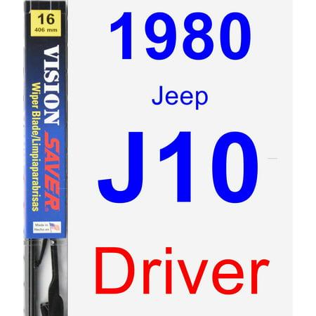 1980 Jeep J10 Driver Wiper Blade - Vision Saver