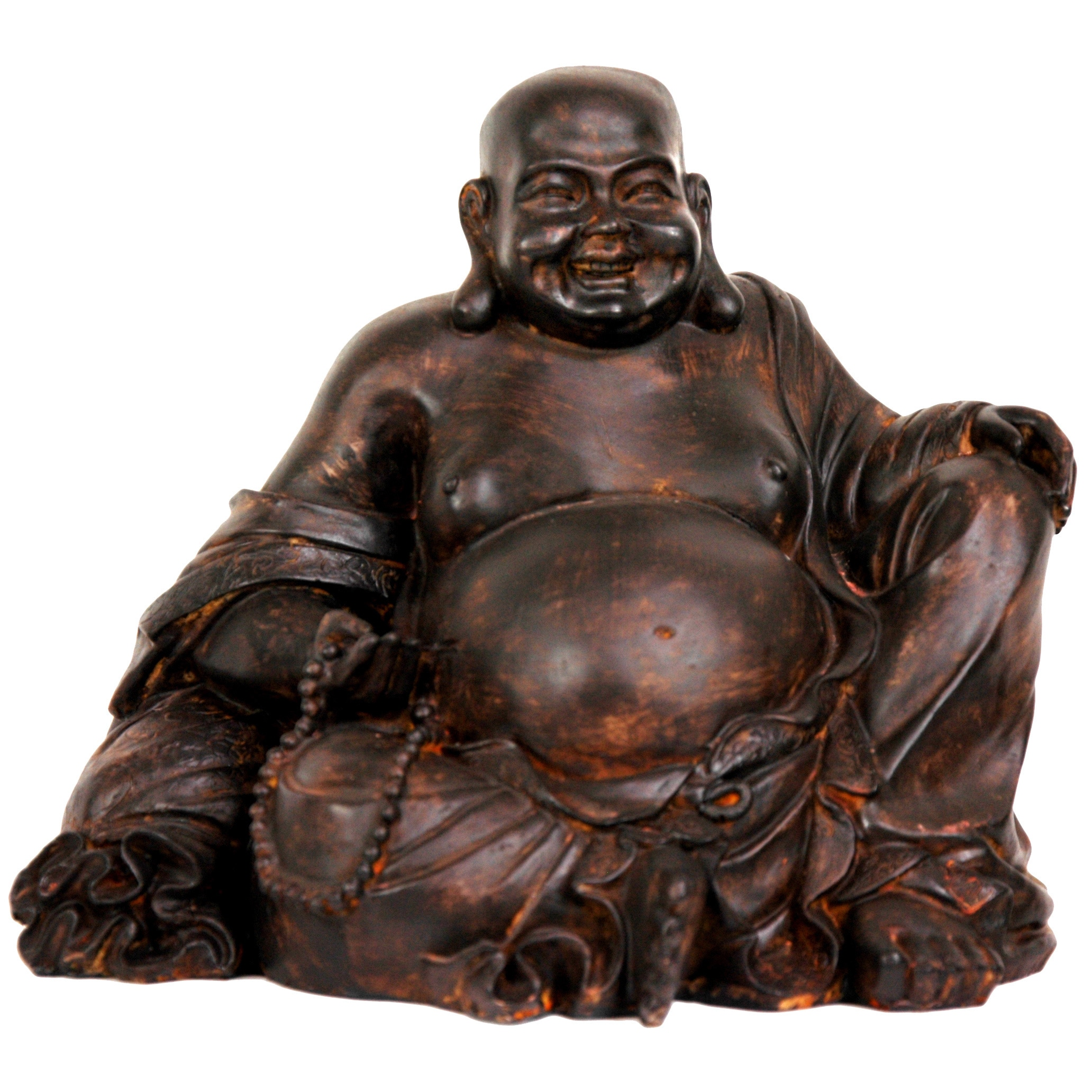 Great addition for your home. Bronze Laughing Buddha with Solar Light