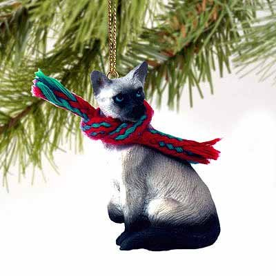 siamese cat christmas ornament