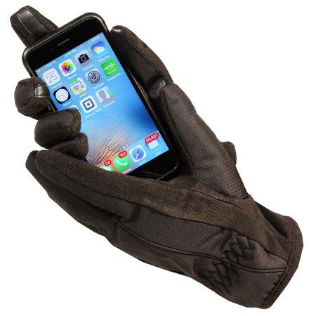 Women's Isotoner A21542 ThermaFlex Smart Touch Glove Black Small / Medium