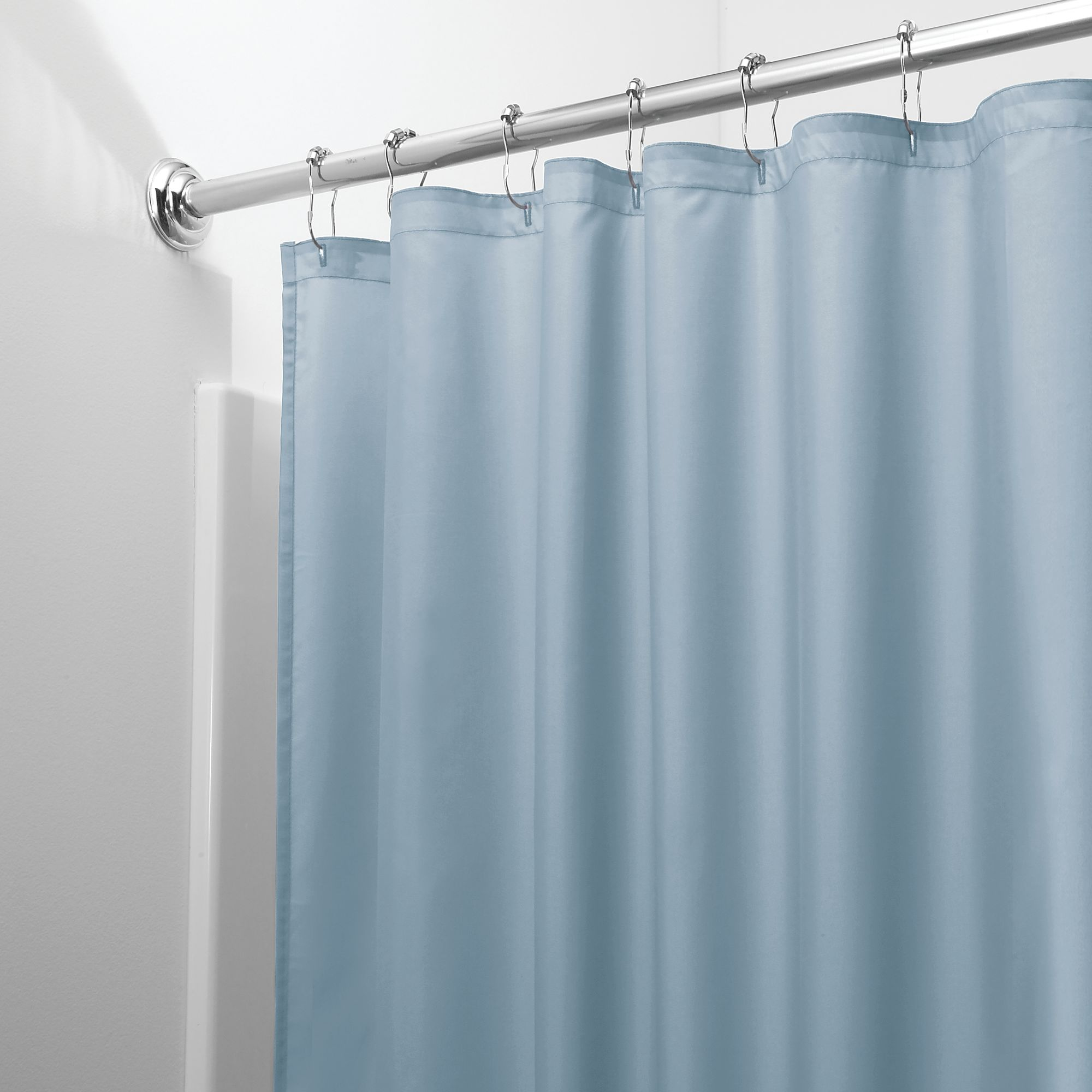 InterDesign Waterproof Fabric Shower Curtain Liner, Various Colors
