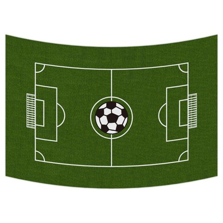 GCKG Soccer Ground Tapestry,Soccer Ground Wall Hanging Wall Decor Art for Living Room Bedroom Dorm Cotton Linen Decoration Size 90x60 inches - Soccer Room Decor
