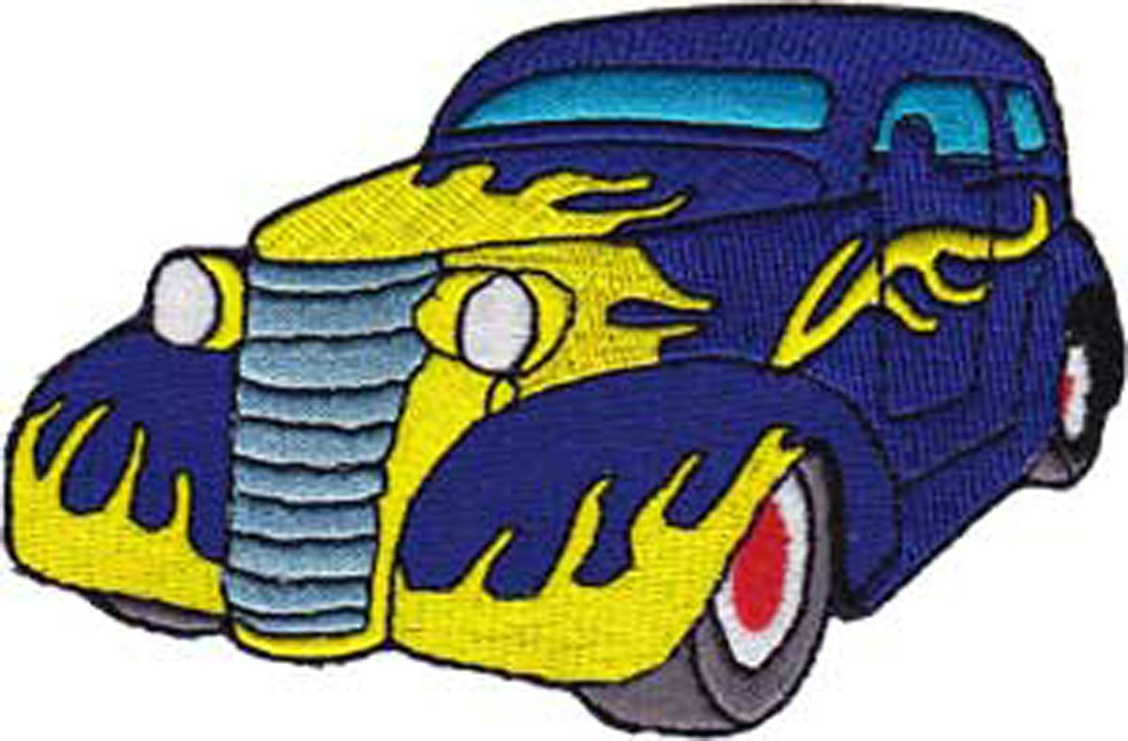 C/&D Visionary P-3784 Hot Rods Black Truck with Flames Patch