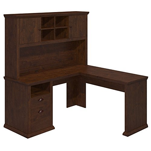 Bush Furniture Yorktown Corner Desk with Hutch