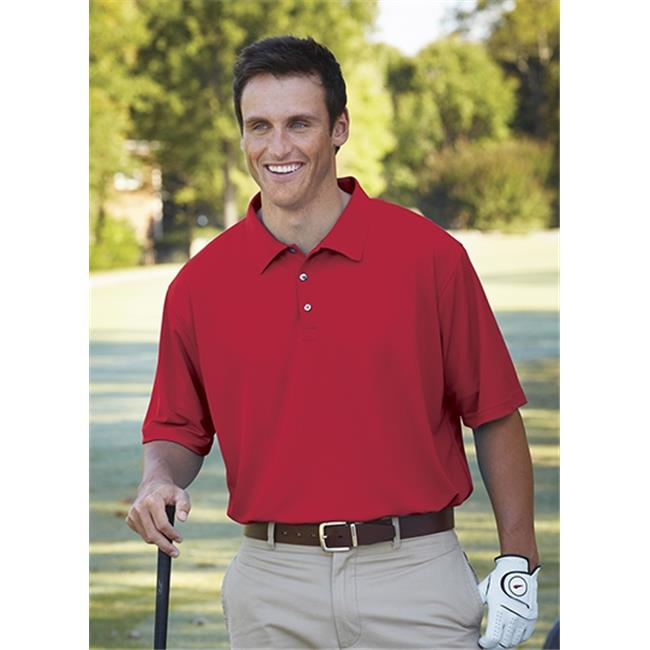 Bermuda Sands 721 Mens Breeze Performance Polo - Red, Extra Large