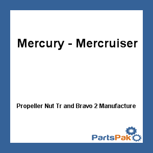 Mercury - Mercruiser 11-826711 27 Mercury Quicksilver 11-826711 27 Propeller Nut Tr and Bravo 2-Mercruiser