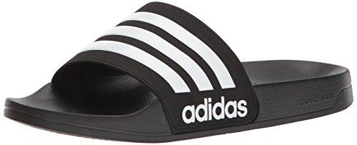 adidas neo - männer von adilette dia - sandale, core - schwarz / weiß / kern