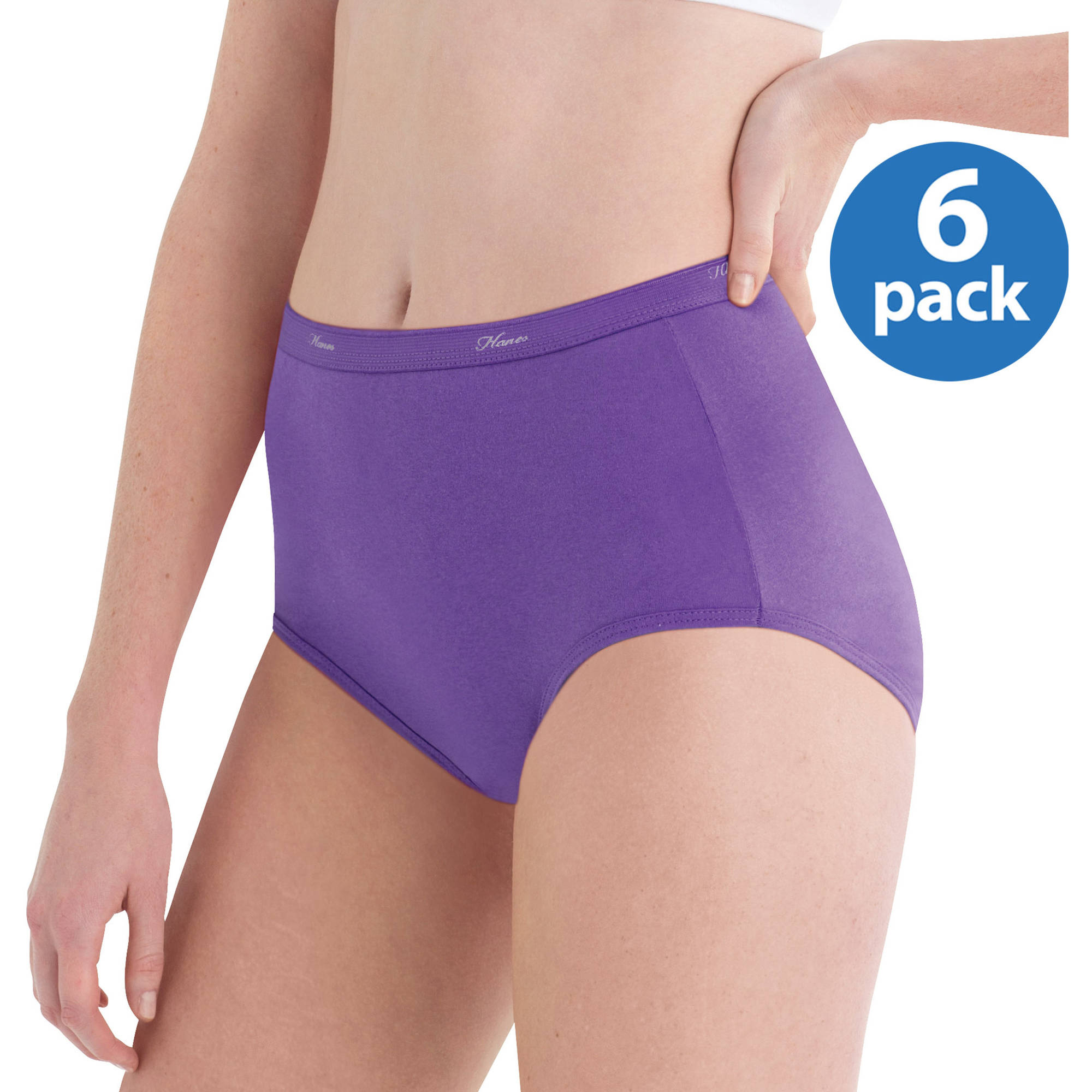 Hanes Women's LLC Cotton Brief Panties 6-Pack