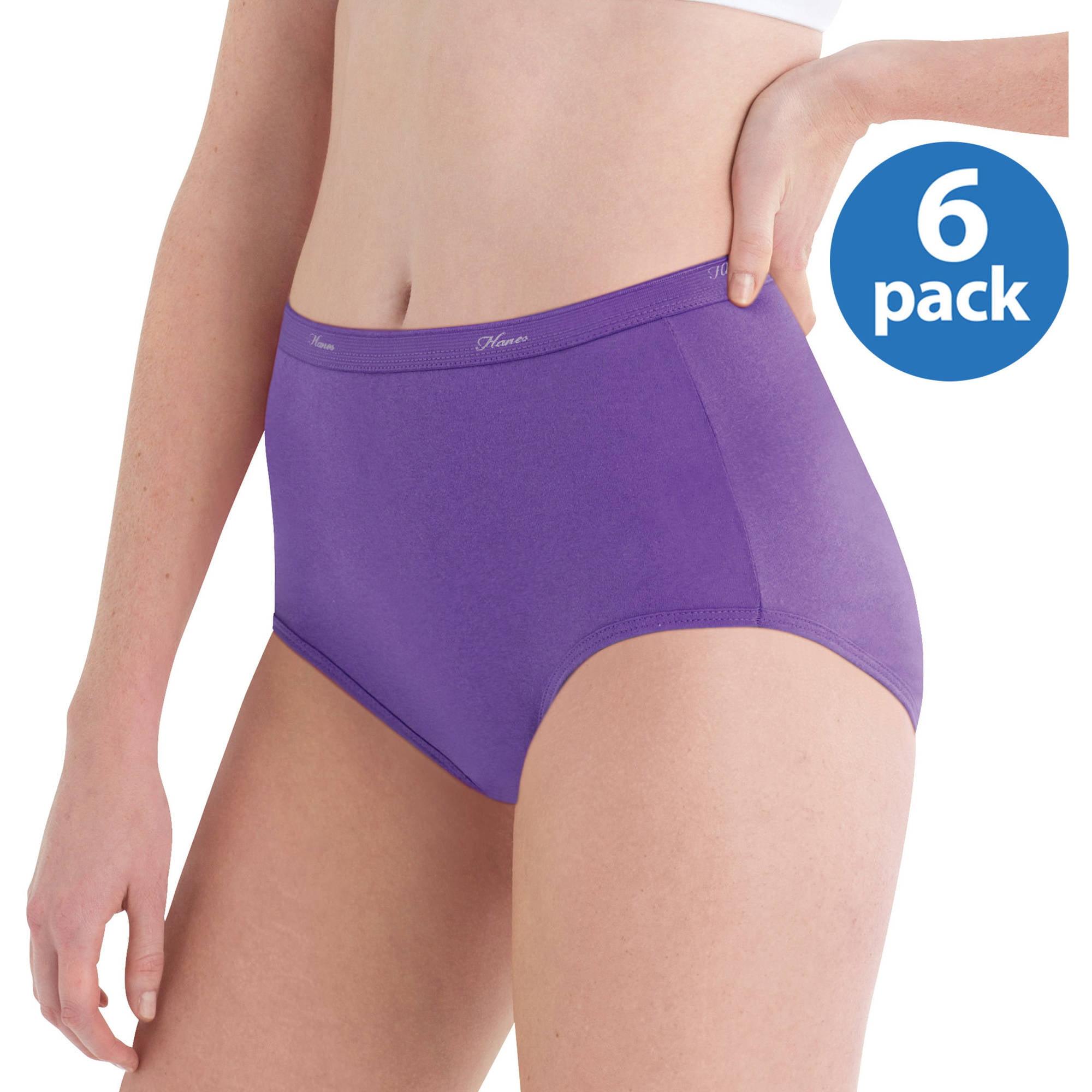 Hanes Women's LLC Cotton Brief Panties 6-Pack