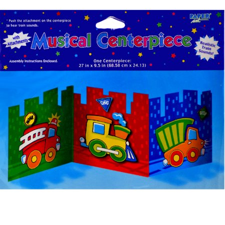 Rescue Vehicles Musical Centerpiece (1ct) (Musical Centerpiece)