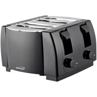 Brentwood TS-285 Cool Touch 4 Slice Toaster, Black