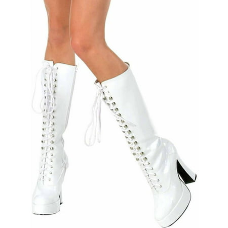 Easy White Boots Women's Adult Halloween Costume Accessory