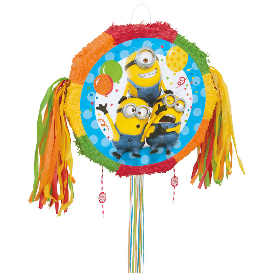 Despicable Me Minions Pinata, Pull String, 18 x 18 in, 1ct