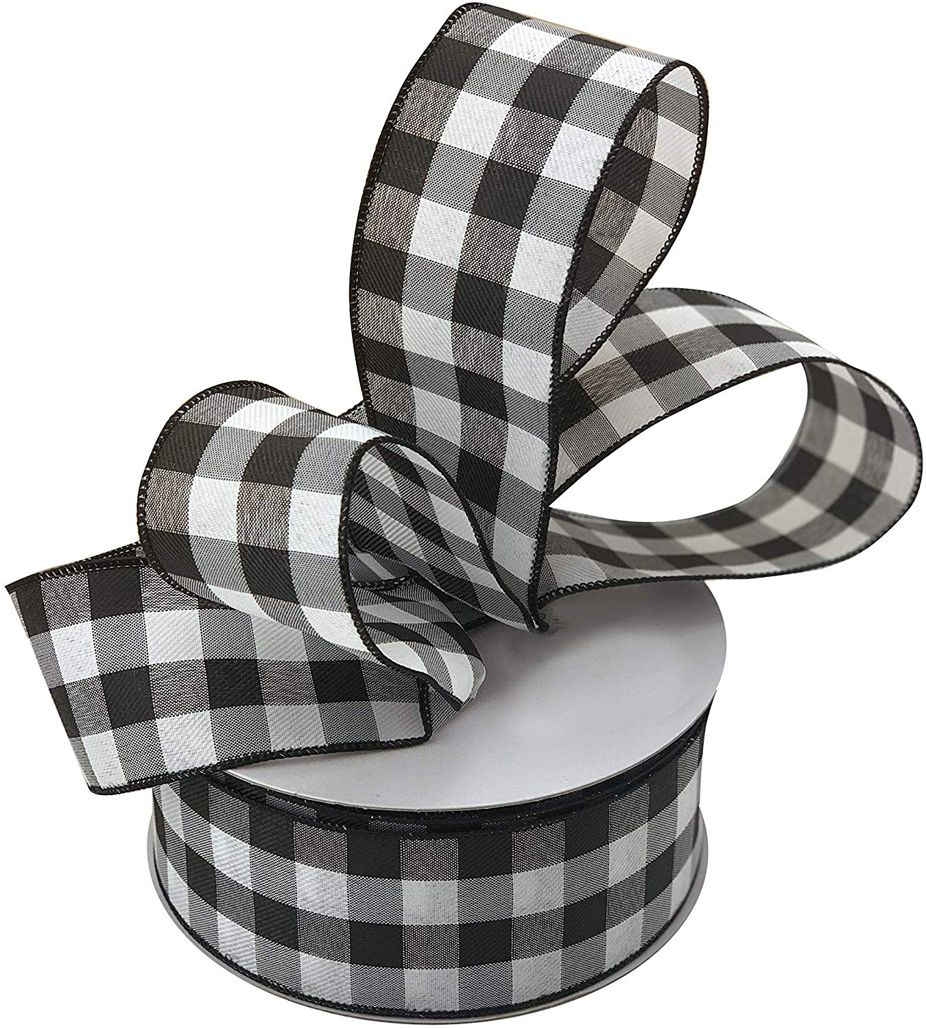 Black White Buffalo Plaid Ribbon 2 1 2 X 50 Yards Wired Edge Christmas Ribbon Wreath Farmhouse Decor Garland Presents Gift Basket Wrapping Ribbons For Crafts Walmart Com Walmart Com