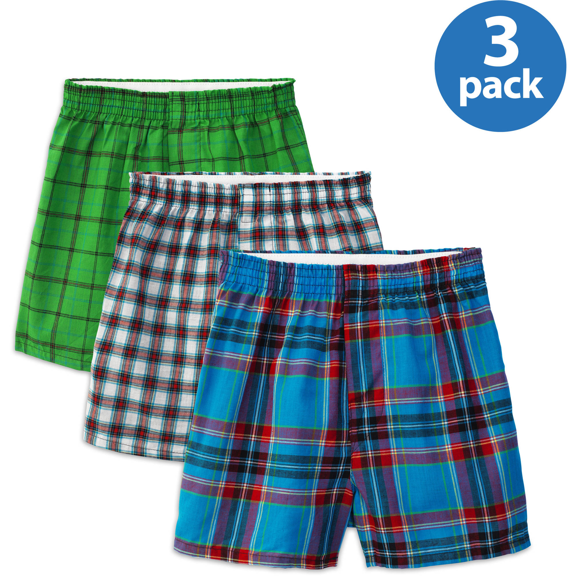 Fruit of the Loom - Boys' Assorted Boxers, 3-Pack