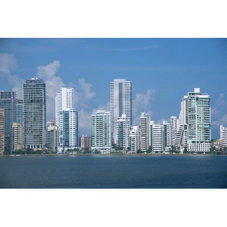 Colombia, Cartagena. Modern Boca Grande area city skyline view from Cartagena Bay. Print Wall Art By Cindy Miller - Party City Boca