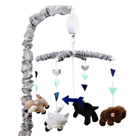 Woodland Trail Digital Musical Mobile Bear Moose Deer by The Peanut Shell