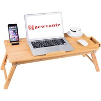 Bamboo Folding Laptop Table Lap Desk Bed Portable Computer Tray Stand Holder Wood Read