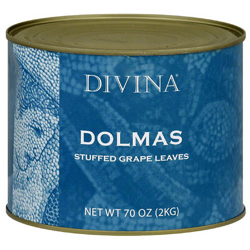 Divina Dolmas Stuffed Grape Leaves 70 oz, (Pack of 6)