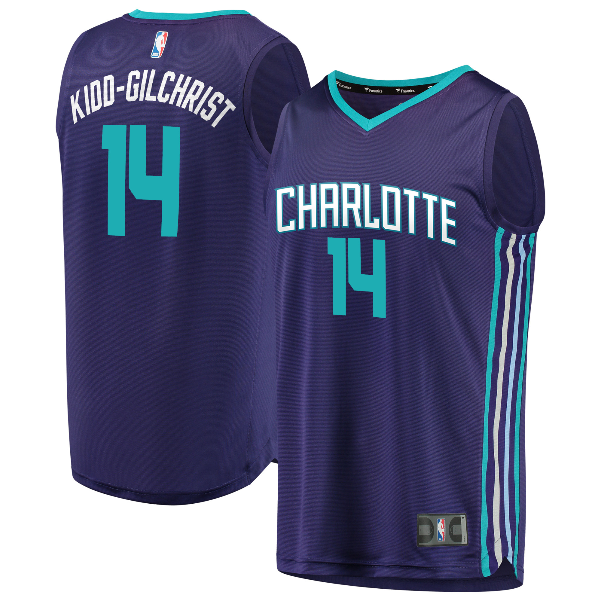 Michael Kidd-Gilchrist Charlotte Hornets Fanatics Branded Fast Break Replica Player Jersey - Statement Edition - Purple