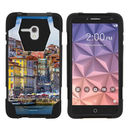 City Fusion - Alcatel One Touch Fierce XL 5054N Shock Fusion Heavy Duty Dual Layer Kickstand Case -  City Canals