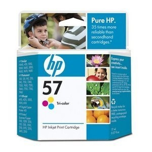 HP 57, (C6657AN) Tri-color Original Ink Cartridge by HP