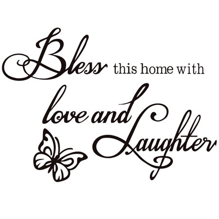 Wall Stickers, Justdolife Removable Self Adhesive Letter Quote Butterfly Love Wall Decal for Kids Home Living Room Bedroom Decor (20*12in) ()