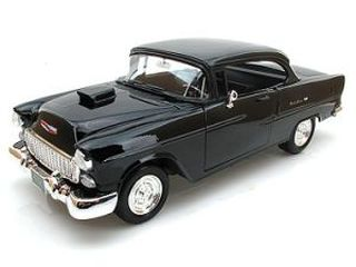 1955 Chevy Bel Air Coupe With Hood Scoop 1:18 Scale Die Cast Car by Motor Max