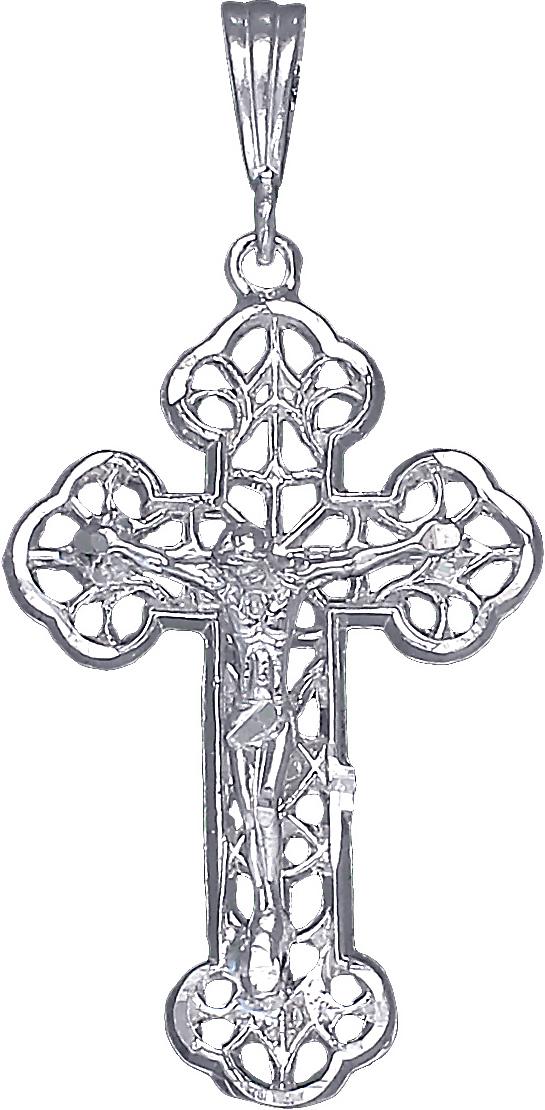 Huge Sterling Silver Jesus Charm Pendant Necklace Diamond Cut Finish 75 Grams