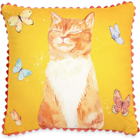 - The Pioneer Woman Butterfly Cat 18x18 Decorative Pillow