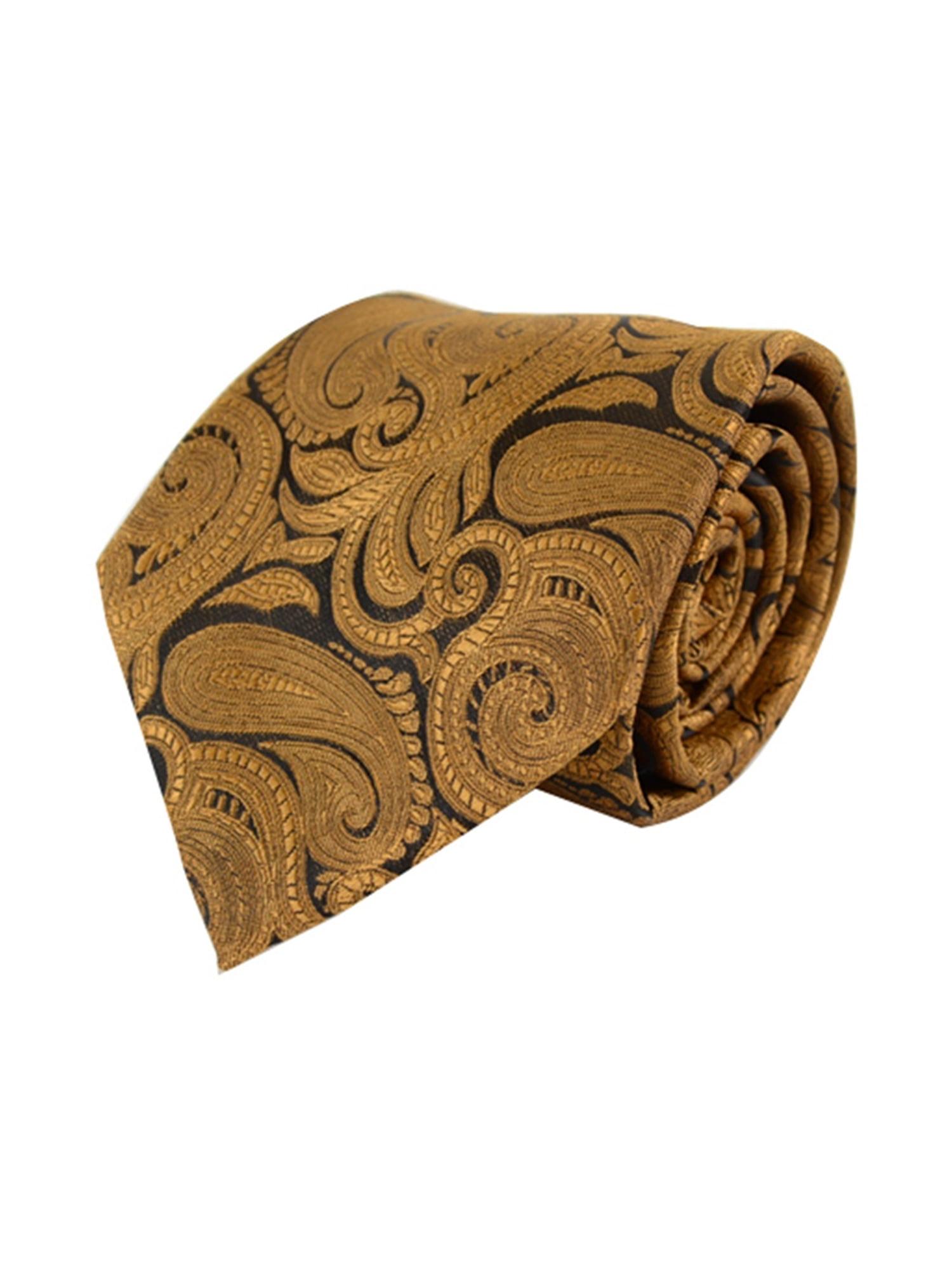 Men's Paisley 100% Microfiber Poly Woven Wedding Neck Tie