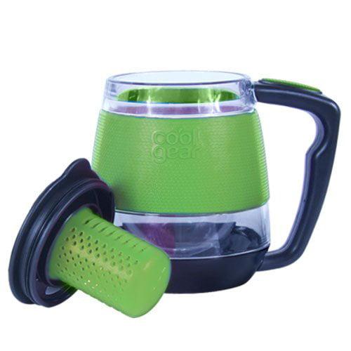 Cool Gear 11oz Tea Infuser Desktop Double Wall Insulated Mug Loose Leaf