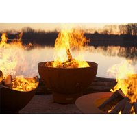 Fire Pit Art CTR 37 in. Crater Fiery Craters of The Earths Volcanic Depths Fire Pit