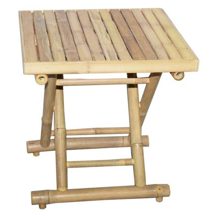 Bamboo54 Bamboo Square 18 in. Folding Side Table