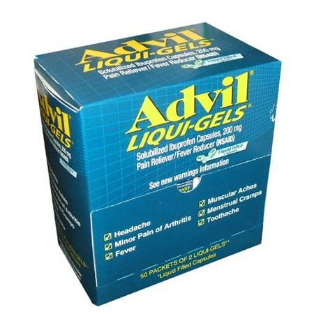 Advil liquides-gels - maux de tête, mal de dos - 50 / Box (ACM016902)
