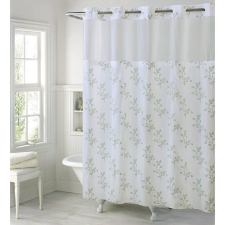 Hookless Spring Leaves Polyester Shower Curtain
