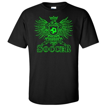 Soccer T-Shirt: Play Hard Eagle-Youth Small