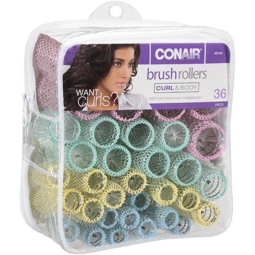 Conair: Curl & Body Brush 61146 Rollers, 36 Ct