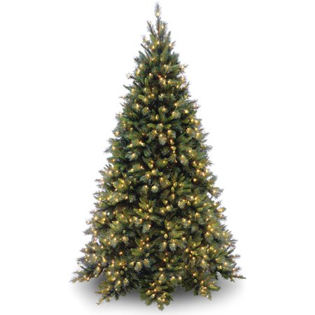 National Tree Pre-Lit 7-1/2' Tiffany Fir Medium Hinged Artificial Christmas Tree with 700 Clear (Tiffany Christmas Tree)